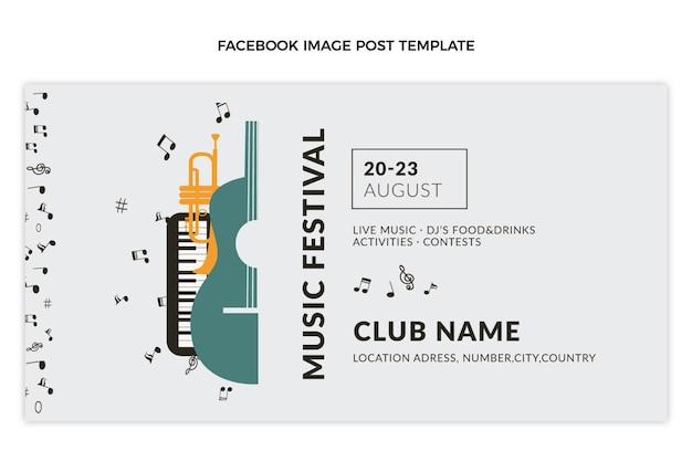 Message facebook du festival de musique minimal plat