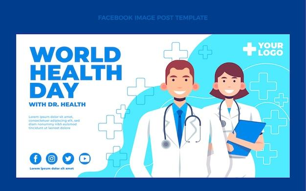 Message facebook médical plat