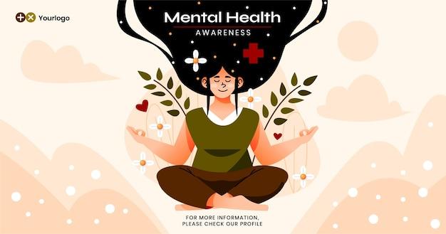 Message facebook plat sur la santé mentale