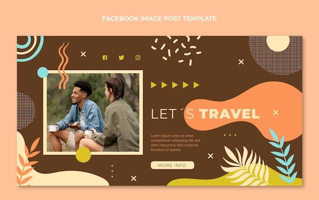 Message facebook de voyage dessiné à la main