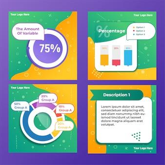 Message d'infographie sur les médias sociaux
