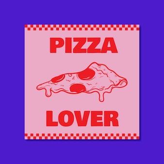Message instagram pour amoureux de la gastronomie moderne duotone