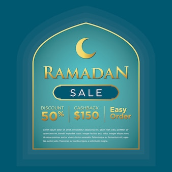 Message sur les médias sociaux du ramadan kareem