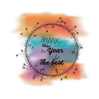 Message de nouvel an sur un fond
