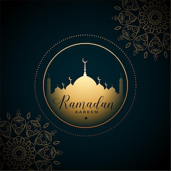 Message de ramadan kareem eid de style mandala arabe traditionnel