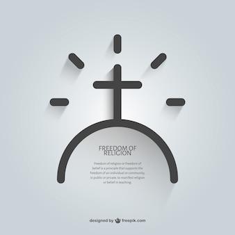 Message religieux de modèle de foi