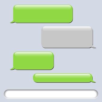 Messages de bulles de chat de vecteur de téléphone