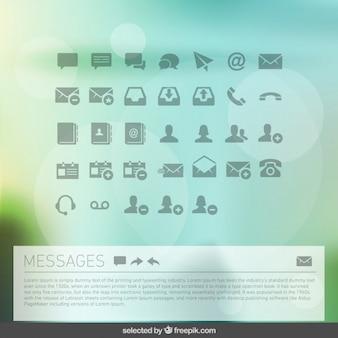 Messages collection d'icônes
