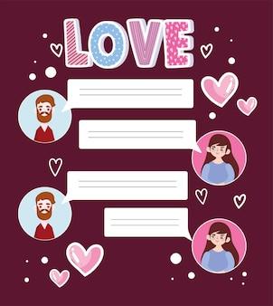 Messages de couple amour
