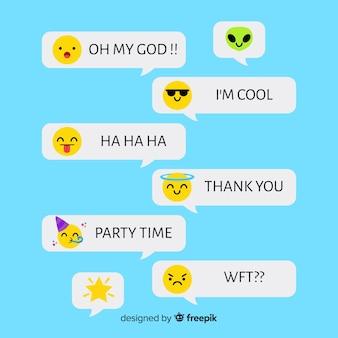Messages avec des emojis mignons