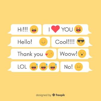 Messages avec des emojis