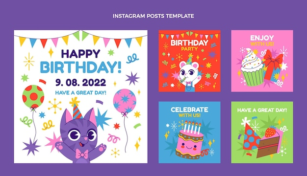 Messages instagram d'anniversaire dessinés à la main