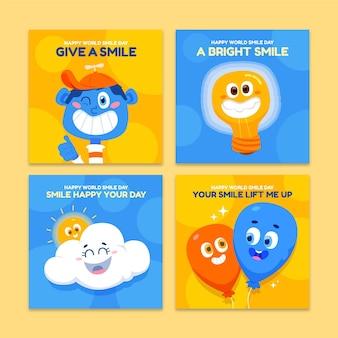 Messages instagram du jour du sourire dessinés à la main