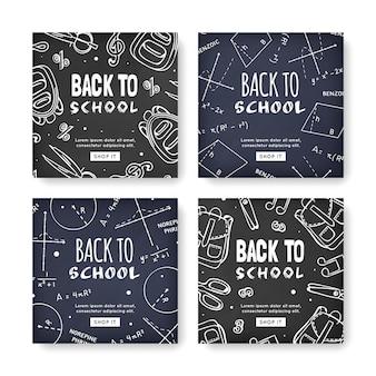 Messages instagram de l'école de design blackboard