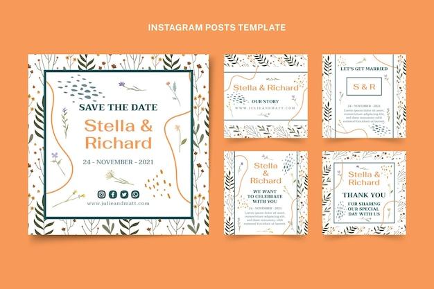Messages instagram de mariage dessinés à la main
