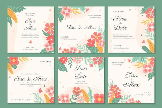 Messages instagram de mariage floral
