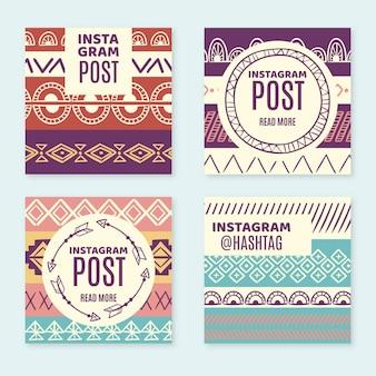 Messages instagram de style bohème dessinés à la main