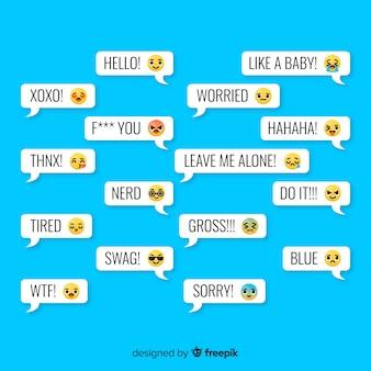 Messages avec réactions emojis