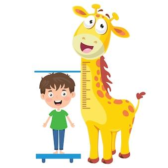 Mesure de la hauteur pour les petits enfants
