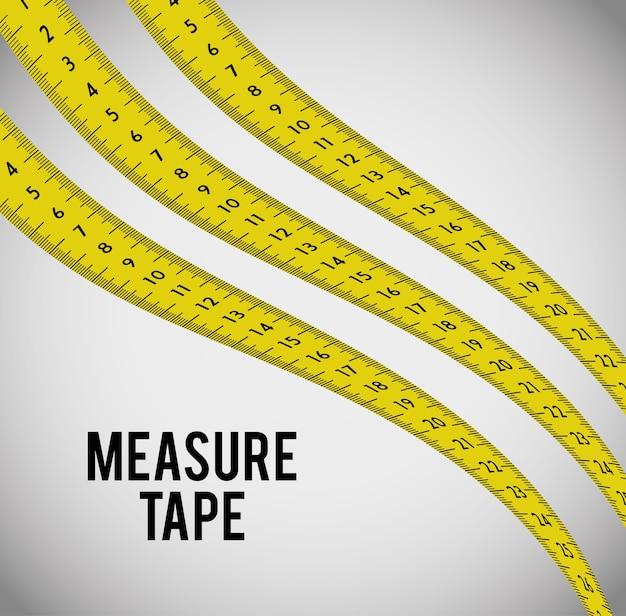 Mesurer le ruban et les régimes