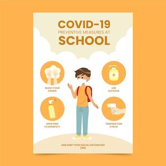 Mesures préventives à l'école - affiche