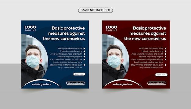 Mesures de protection de base contre le coronavirus sur les médias sociaux