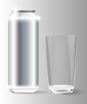 Métal avec un bocal en verre.