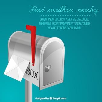 Métal boîte aux lettres de fond