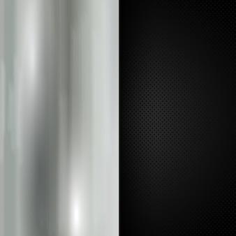 Métallisé et noir grille fond