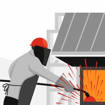 Métallurgiste. industrie métallurgique