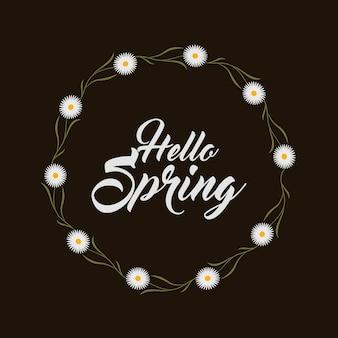 Météo floral fleurs nature saison salut printemps