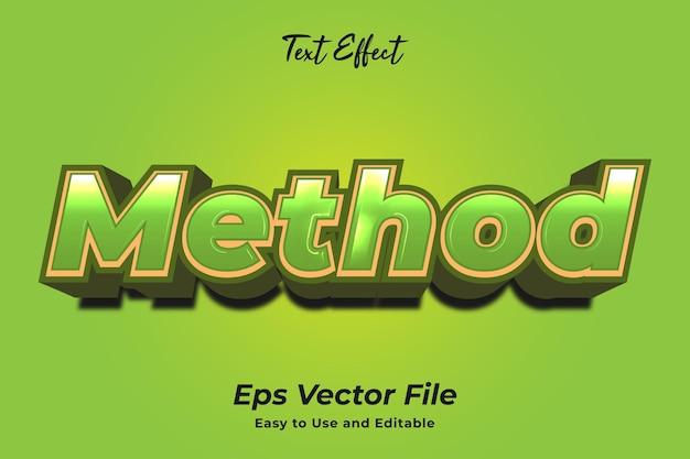 Méthode d'effet de texte modifiable et facile à utiliser vecteur premium