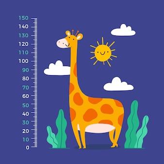 Mètre de hauteur de dessin animé mignon pour enfants