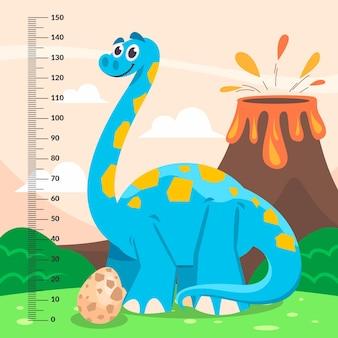 Mètre de hauteur de dessin animé pour les enfants