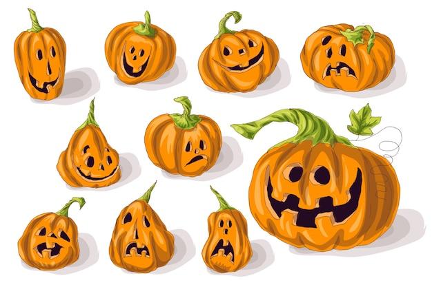 Mettre des citrouilles pour halloween