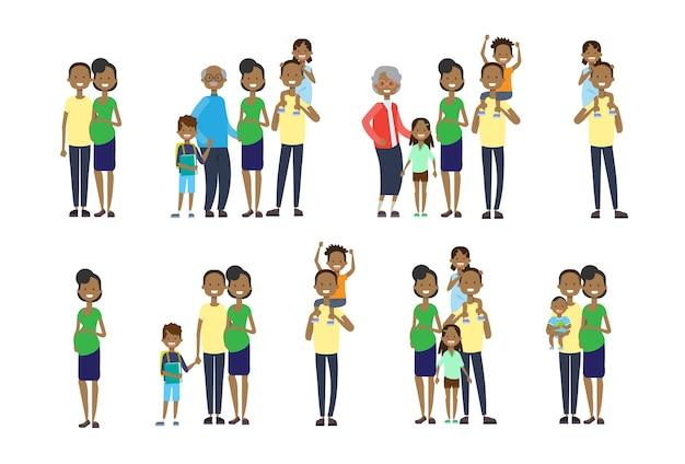 Mettre la diversité pose grands-parents africains