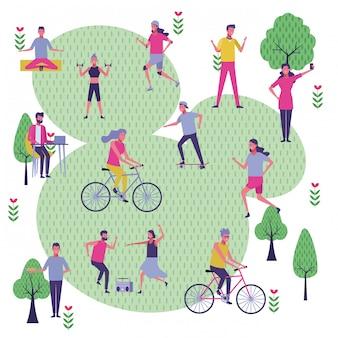 Mettre les gens dans le parc