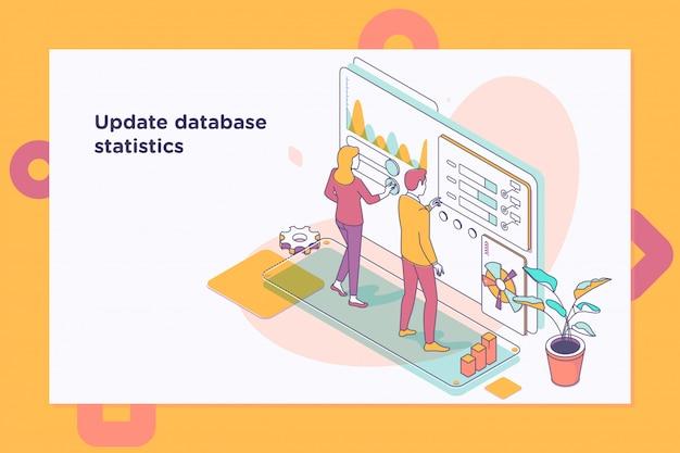 Mettre à jour les statistiques de la base de données. flux de travail et gestion d'entreprise