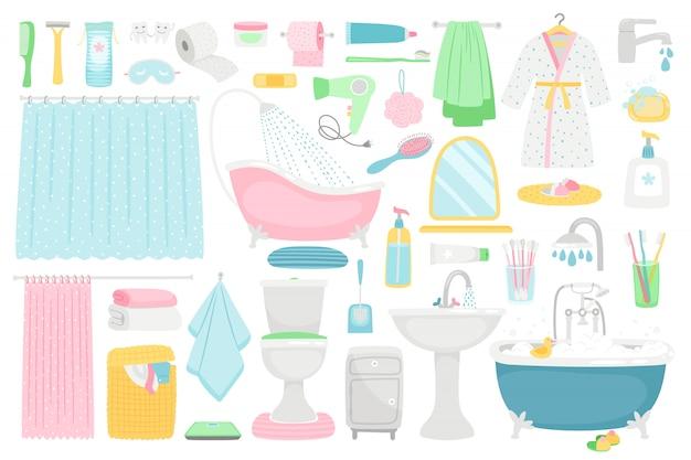 Meubles et accessoires de dessin animé de salle de bain