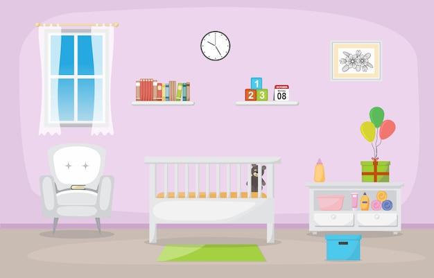 Meubles d'intérieur de chambre à coucher de bébé d'enfant en bas âge