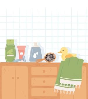 Meubles de produits d'hygiène