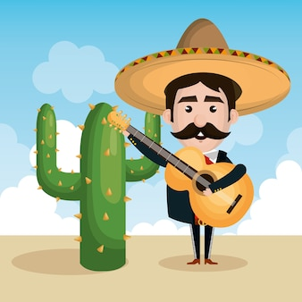 Mexican mariachi personnage classique