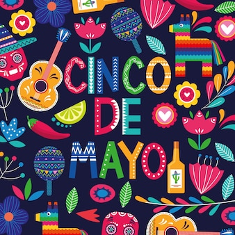 Mexique cinco de mayo card