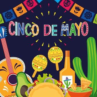 Mexique cinco de mayo card