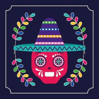 Mexique cinco de mayo crâne