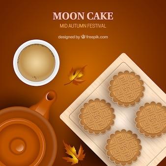 Mi automne fond avec gâteau de lune