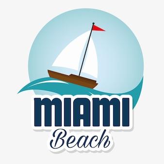 Miami beach californie scène