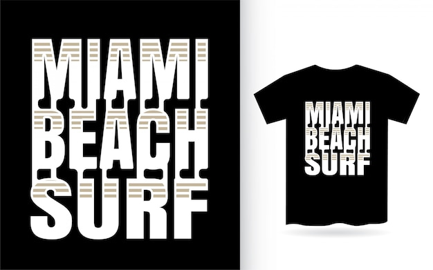 Miami beach surf lettrage moderne
