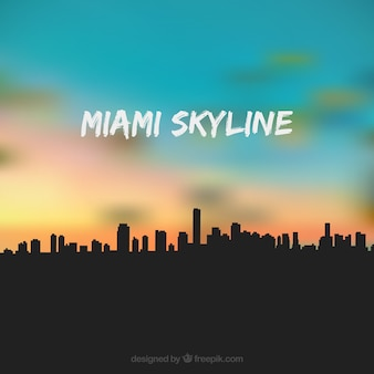 Miami usa skyline