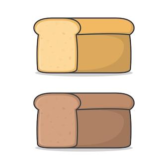 Miche de pain frais icône illustration.